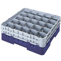 Cambro 25S1058186 Camrack 11 inch High Navy Blue 25 Compartment Glass Rack