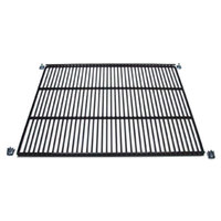 True 909160 Black Coated Wire Shelf - 22 9/16 inch x 18 1/4 inch