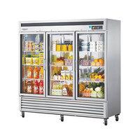 Turbo Air MSR-72G-3 82 inch Maximum Series Three Glass Door Reach In Refrigerator - 72 Cu. Ft.