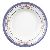 Rose 3 oz. Round Melamine Soup Plate - 12/Pack