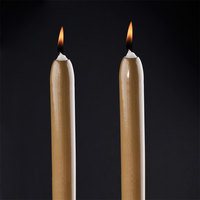 Will & Baumer 8 inch Gold Chace Candle 2 / Pack
