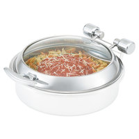 Vollrath 46127 Round Intrigue Induction Chafer Glass Lid with Stainless Steel Trim