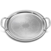 Tablecraft CT13H 13 inch Chrome Plated Serving Tray with Handles