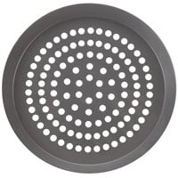 American Metalcraft CAR6HCSP 6 inch SuperPerforated CAR Pizza Pan - Hard Coat Anodized Aluminum