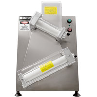 Doyon DL12DP Countertop 12 inch Dough Roller Sheeter, 250 Pieces/Hour - Two Stage, Diagonal Rollers