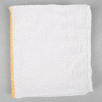 Choice 16 inch x 19 inch Gold Striped 32 oz. 100% Cotton Bar Towel - 12 / Pack