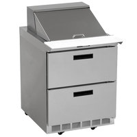 Delfield UCD4427N-6 27 inch Reduced Height Salad Prep Refrigerator with Two Drawers