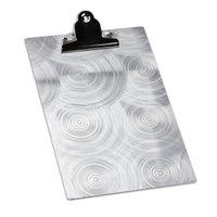 5 inch x 7 inch Menu Solutions ALSIN57-CLIP Single Panel Aluminum Clipboard Menu Board with Swirl Finish