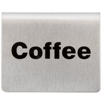 Tablecraft B1 2 1/2 inch x 2 inch Stainless Steel Coffee Tent Sign