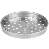 American Metalcraft PHA5108 5100 Series 8 inch Perforated Heavy Weight Aluminum Straight Sided Self-Stacking Pizza Pan