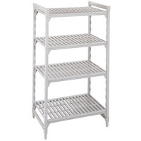 Cambro Camshelving Premium CPU184864V4480 Shelving Unit with 4 Vented Shelves 18 inch x 48 inch x 64 inch