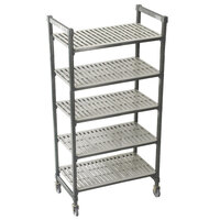 Cambro Camshelving Premium CPMS244875V5480 Mobile Shelving Unit with Standard Casters 24 inch x 48 inch x 75 inch - 5 Shelf