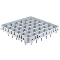 Cambro 36E4151 Soft Gray 36 Compartment Full Size Full Drop Camrack Stemware Extender