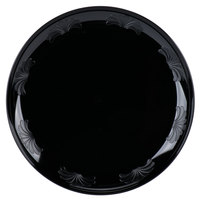 WNA Comet DWP75180BK 7 1/2 inch Black Plastic Designerware Plate - 180/Case
