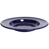 Tuxton Concentrix CCD-120 Cobalt 23 oz. 12 inch Rim China Soup / Pasta Bowl 6/Case