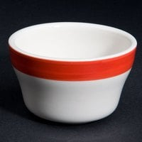 CAC R-4-RED Rainbow Bouillon Bowl 7.25 oz. - Red - 36 / Case