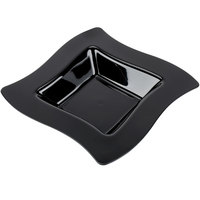 Fineline Wavetrends 112-BK Black Plastic Bowl 12 oz. - 120/Case