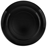 Tuxton CBA-120 Concentrix 12 inch Black China Plate - 6/Case