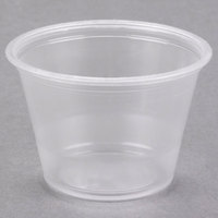 Dart Solo Conex Complements 250PC 2.5 oz. Translucent Plastic Souffle / Portion Cup   - 2500/Case
