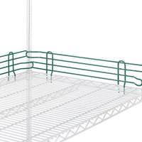 Metro L14N-4-DHG Super Erecta Hunter Green Stackable Ledge 14 inch x 4 inch