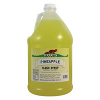 Fox's Pineapple Slush Syrup - (4) 1 Gallon Containers / Case
