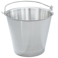 Vollrath 58130 12.5 Qt. Stainless Steel Tapered Dairy Pail