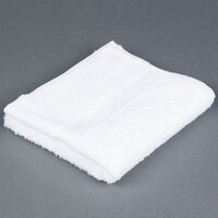Lavex Lodging 16 inch x 30 inch White 100% Ring Spun Cotton Hotel Hand Towel 3.5 lb. - 12/Pack
