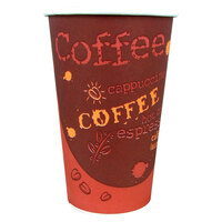 Choice 20 oz. Paper Hot Cup with Coffee Design 600 / Case
