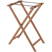 Aarco Walnut Folding Wood Tray Stand - 31 inch