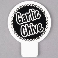 Deli Tag Topper - GARLIC CHIVES - Black
