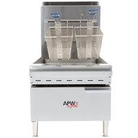 APW Wyott APWF-25C Liquid Propane 25 lb. Countertop Fryer - 60,000 BTU