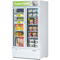 Turbo Air TGF-35SD White 40 inch Super Deluxe Two Door Merchandiser Freezer - 37 Cu. Ft.