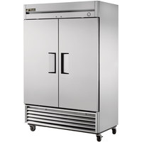 True T-49F 54 inch Two Section Solid Door Reach in Freezer - 42.1 cu. ft.
