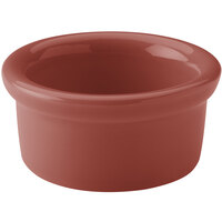 Hall China 30363334 Paprika 3.5 oz. Colorations Round China Ramekin - 36/Case