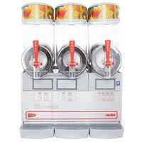 Cecilware FrigoGranita NHT3UL Triple 2.5 Gallon Bowl Pourover Granita Dispenser with Stainless Steel Finish