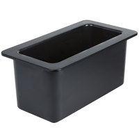 Cambro 36CF110 ColdFest 1/3 Size Black Food Pan - 6 inch Deep