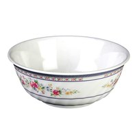 Rose 48 oz. Round Melamine Swirl Bowl - 12/Case