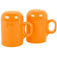 Homer Laughlin 756325 Fiesta Tangerine Rangetop Salt and Pepper Shaker Set - 4/Case