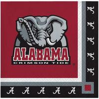 Creative Converting 650697 University of Alabama 2-Ply Beverage Napkin - 240/Case
