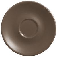 World Tableware DRI-14-D Driftstone 6 inch Driftwood Satin Matte Porcelain Saucer - 24/Case
