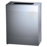 Rubbermaid SR18EPL Silhouettes Metallic Silver Steel Designer Rectangular Waste Receptacle - 40 Gallon (FGSR18EPLSM)