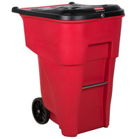 Rubbermaid FG9W2000RED Brute 95 Gallon Red Rollout Container with Locking Lid