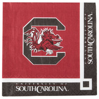 Creative Converting 654890 University of South Carolina 2-Ply Beverage Napkin - 240/Case