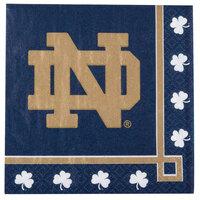 Creative Converting 654842 Notre Dame 2-Ply Beverage Napkin - 240/Case