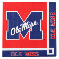 Creative Converting 654893 University of Mississippi 2-Ply Beverage Napkin - 240/Case