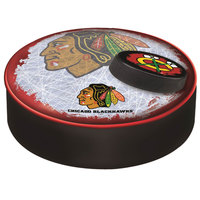 Holland Bar Stool BSCChiHwk-B-D2 14 1/2 inch Chicago Blackhawks Vinyl Bar Stool Seat Cover