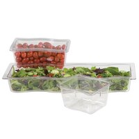 Carlisle 6986407 Modular Displayware 1/3 Size Clear Wavy Edge Food Pan - 6/Case