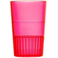Fineline Quenchers 4115-RD 1.5 oz. Neon Red Hard Plastic Shooter Glass - 10/Pack