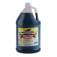 Fox's 1 Gallon Black Raspberry Snow Cone Syrup - 4/Case