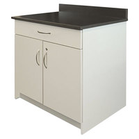 Alera Plus AAPBR102GY 36 inch x 25 inch x 40 inch Gray Hospitality Base Cabinet with Two Doors and One Drawer